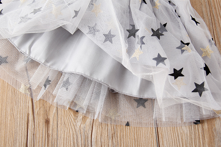 Otroška dekleta Tutu krila Otroška deklica Zlati pas Zvezdaste - Otroška oblačila - Fotografija 5