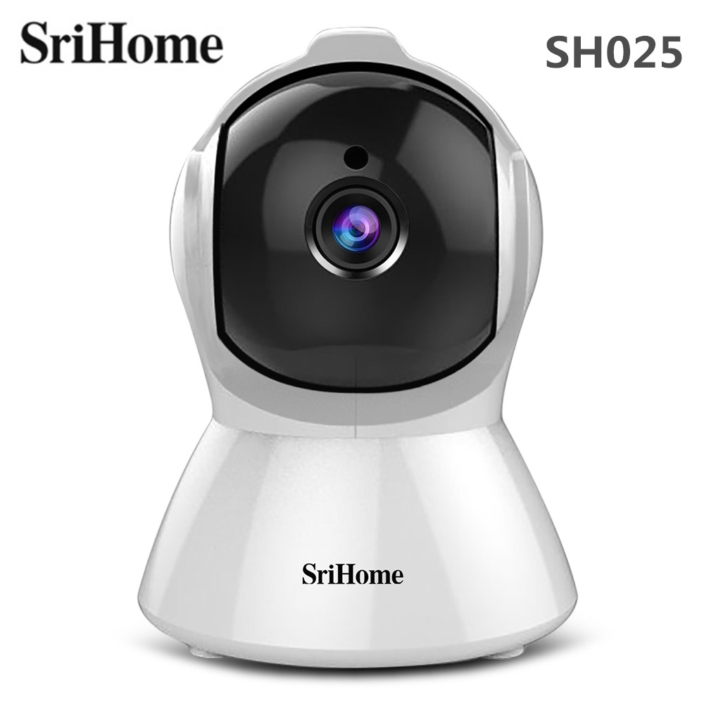 SriHome SH025 1080P AI Auto-tracking Wireless Indoor IP Camera IR Night Vision Smart Motion Tracking Security Camera