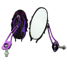 Universal motorcycle mirrors 10MM bike/motorbike rear view side pair Purple