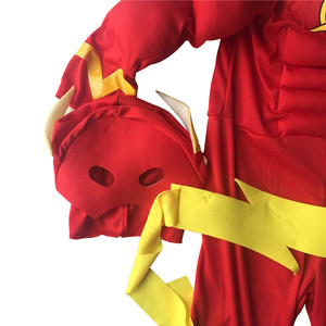 Image 5 - The flash Muscle Kids SHIRT comic Superhero fancy dress fantasia halloween costumes disfraces for child boys cosplay clothing