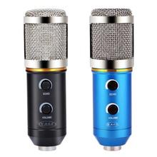 YALI Audio Verdrahtete Mikrofon MK-F200FL 3,5mm Tonaufnahme Kondensatormikrofon mit Shock Mount Halter Clip für KTV Karaoca