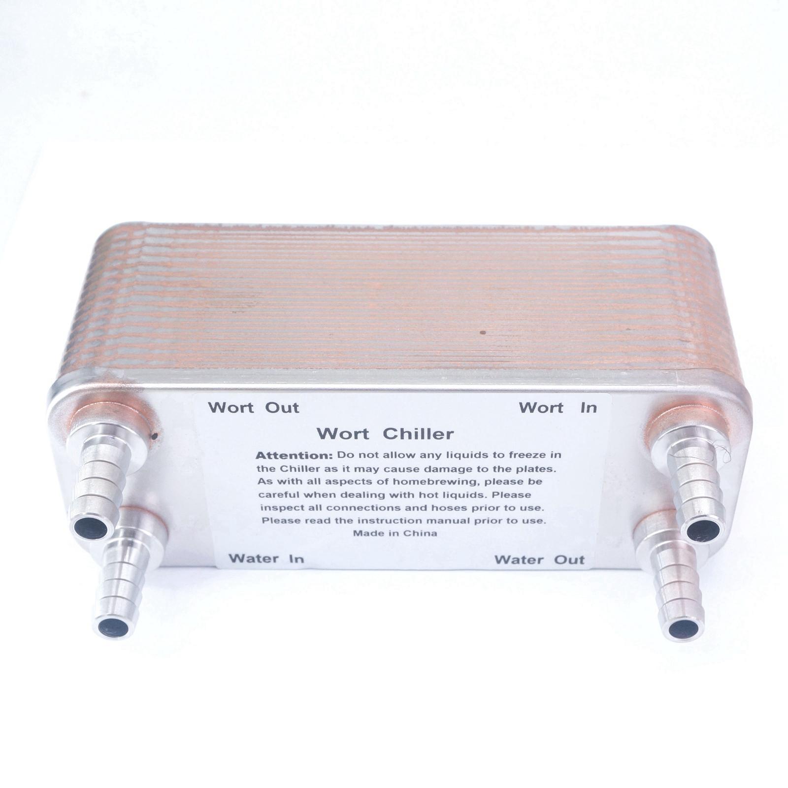 30 Plates Wort Chiller 304 Stainless Homebrew Heat Exchanger 1/2 Hose Barb 0.336m2