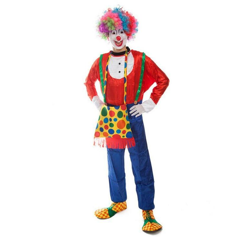 Halloween Clown Costumes for Male Halloween Cosplay Rompers Funny Costumes for Adults Festival Costumes Performance Wear