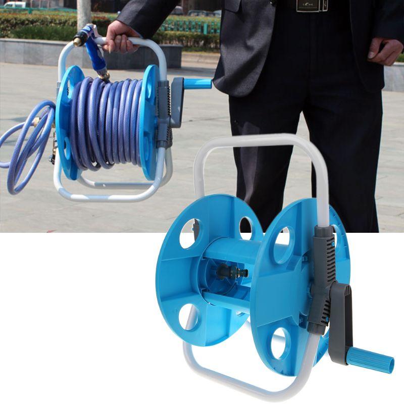 Tragbare Wasser Rohr Schlauch Reel Halter Wickel Gerät Für Waschen Autos Garten Werkzeug Outdoor-Anlage