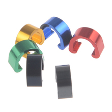Wanyifa Bicycle Brake Cable Fixed Clamp 6 Color Bike Tube Clips Aluminum Alloy MTB Road Line C Type 10Pcs