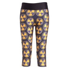 New 1280 Sexy Girl Women nuclear energy Logo 3D Prints Workout Fitness stretchy elastic Cropped Trousers Leggings Pocket Pants