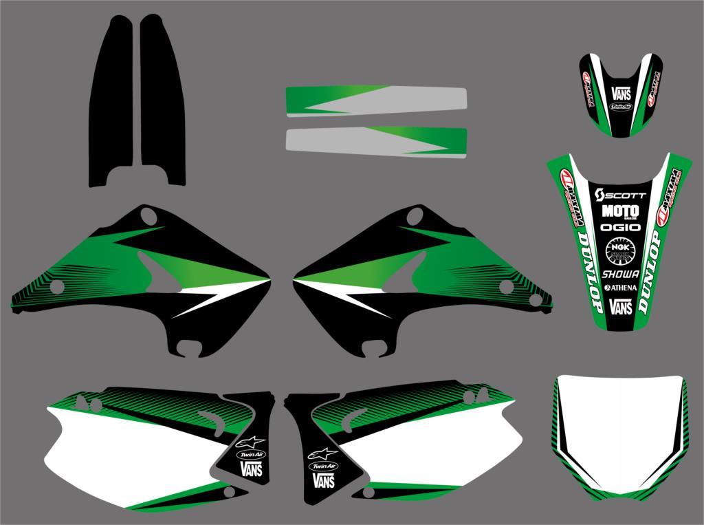 NICECNC Graphique Autocollant Moto pour Kawasaki KX125 KX250 KX 125 250 2003 2004 2005 2006 2007 2008 2009 2010 2011 2012NICECNC Graphique Autocollant Moto pour Kawasaki KX125 KX250 KX 125 250 2003 2004 2005 2006 2007 2008 2009 2010 2011 2012