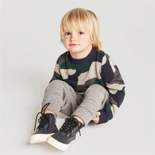 Bobozone camouflage Sweater winter add wool knit kids clothing