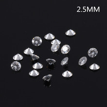 TransGems 2.5mm=0.065 carat Total 1 CTW F Color Certified Lab Grown Moissanite Diamond Loose Bead Test Positive
