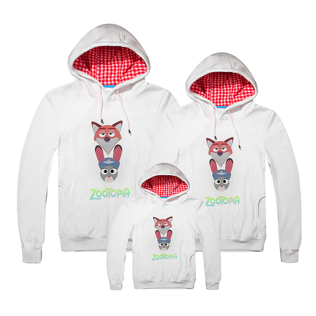 2051c3bf8 Mom Dad Son Custom T-shirt Printing Winter Family Look Make Your Own Shirt  Mother Father Baby Outfit Zootopia Hoodie famille