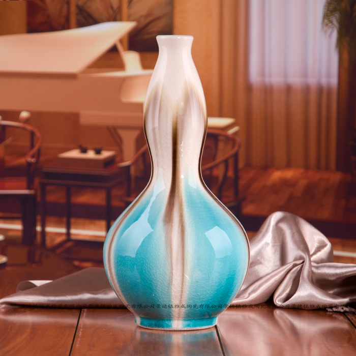 Beautiful chinese green glazed ceramic porcelian vase for home decoration