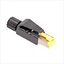 10pcs 4pin Industrial Ethernet Profinet / Ethercat Agreement RJ45 Connector Cat5e / Cat6 RJ45 электрооборудование ethernet plc s7 300 mpi dp profinet 700 1000ie hmi eth smartie
