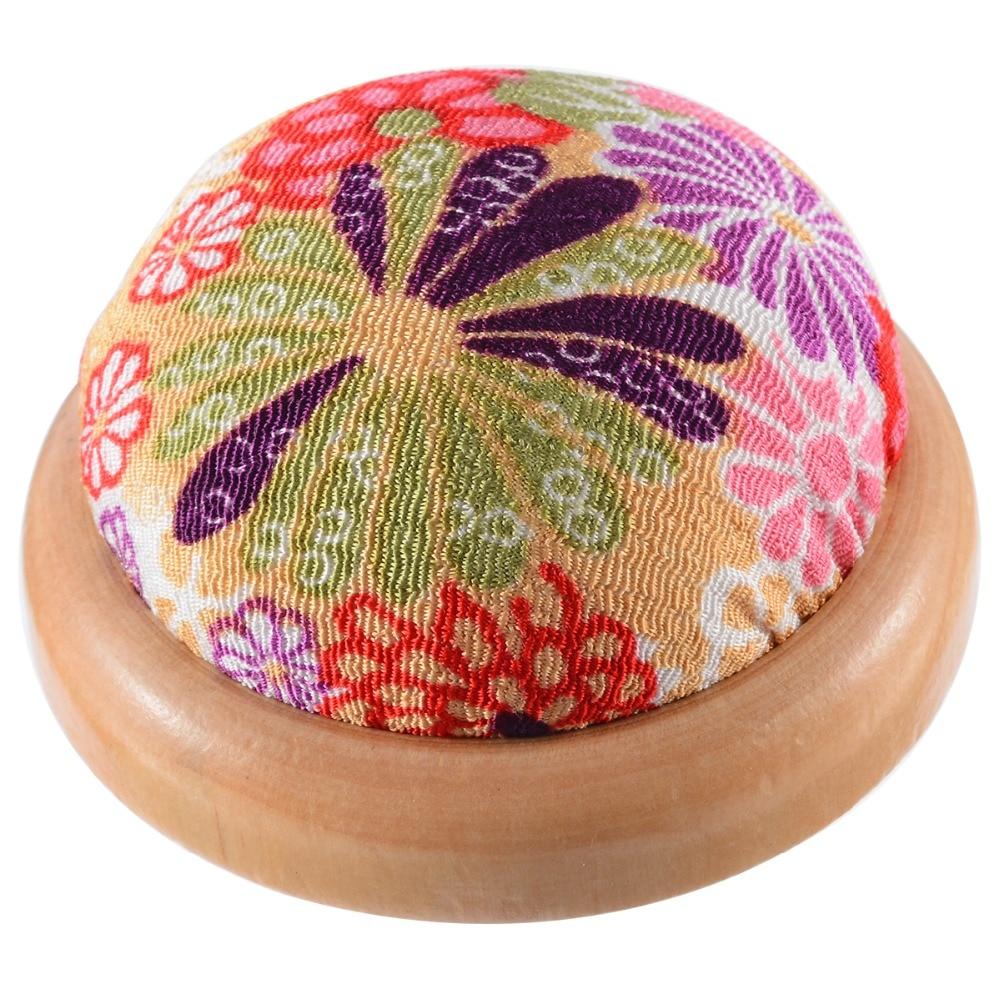 Random Color 1pcs Wood Bottom Base Needle Pin Cushion Pillow Holder Sewing Craft Stitch Needlework DIY Craft