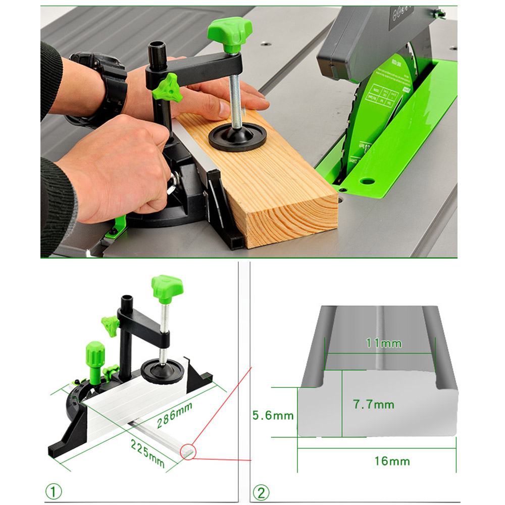 Miter Gauge And Box Joint Jig Woodworking DIY Carpenter Tool Accessories Miter Gauge Kit With Adjustable Flip Stop Angle Table