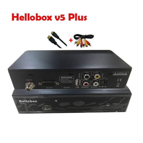 US $61 06 |Hellobox V5 Plus IPTV Satellite Receiver H 265 HEVC Full HD  DVBS2 PowrVu Biss fully autoroll IKS Satellite TV Receiver-in Satellite TV