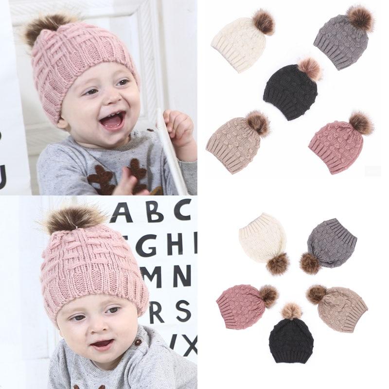 87d5e3839 Cute Toddler Kids Girl Boy Hat Baby Infant Winter Warm Crochet Knit ...
