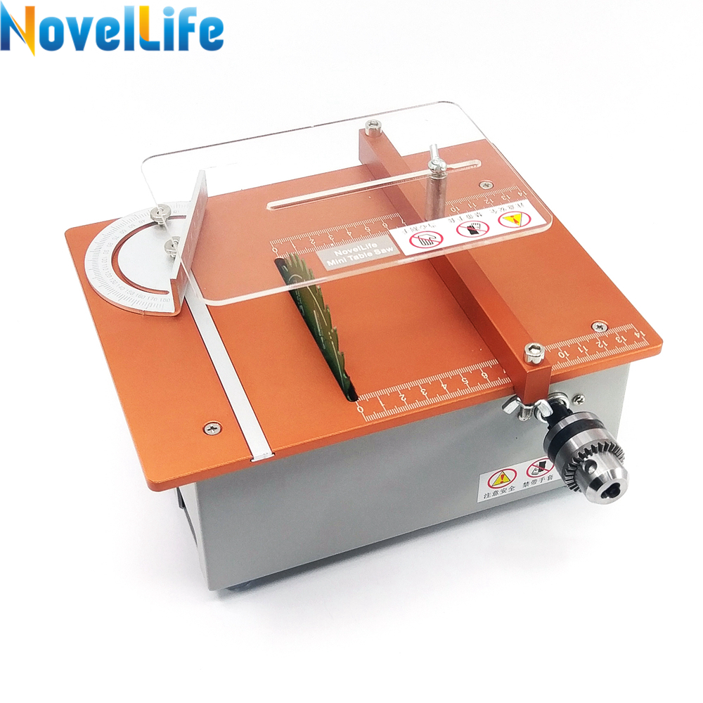 Multifunction Mini Table Saw Woodworking Bench Saw B10 Drill Chuck DIY Electric Polisher Grinder Hobby Model Craft Cutting Tool