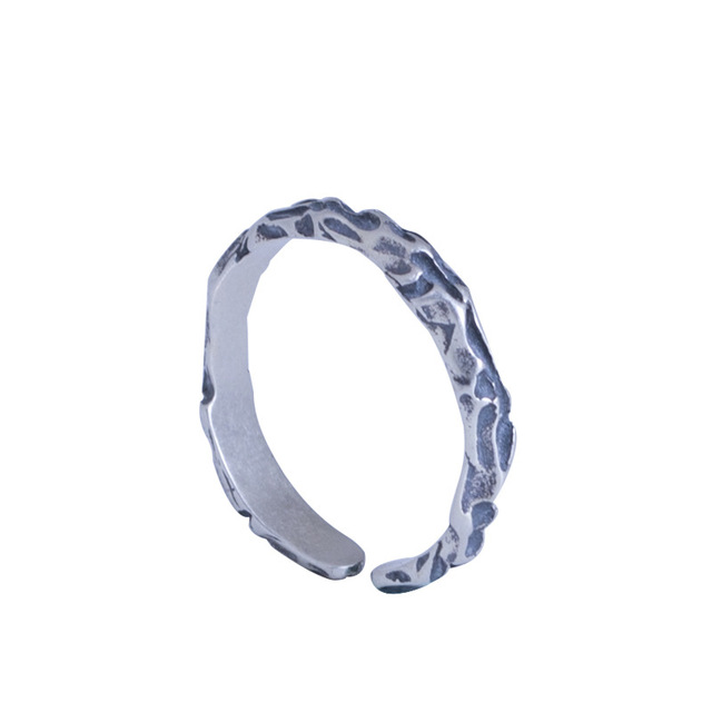 Купить 100% 925 пробы с серебряной текстурой камня открытые кольца картинки