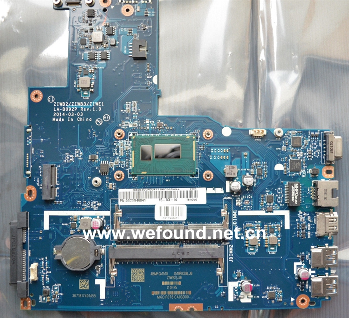 Laptop Motherboard For Lenovo B50-70 LA-B092P With I5 CPU On Board, Fully Tested