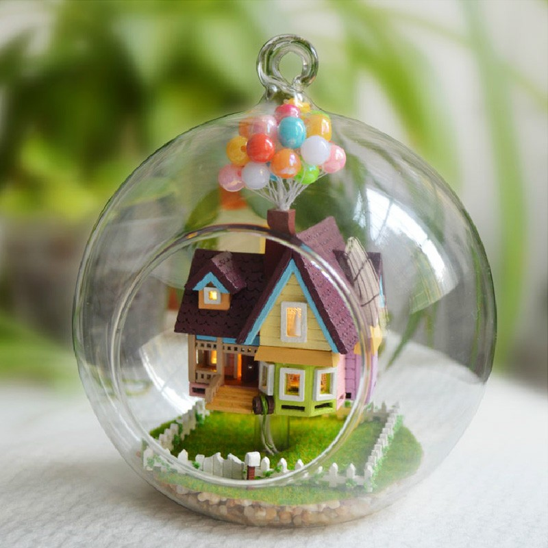 CUTE ROOM Diy Miniature Wooden Doll House Furniture Toys Handmade Craft Miniature Model Kit DollHouse Toys Gift For Children kids pretend play toys furniture for dolls wooden miniature dollhouse tree house with doll children doll room educational toy