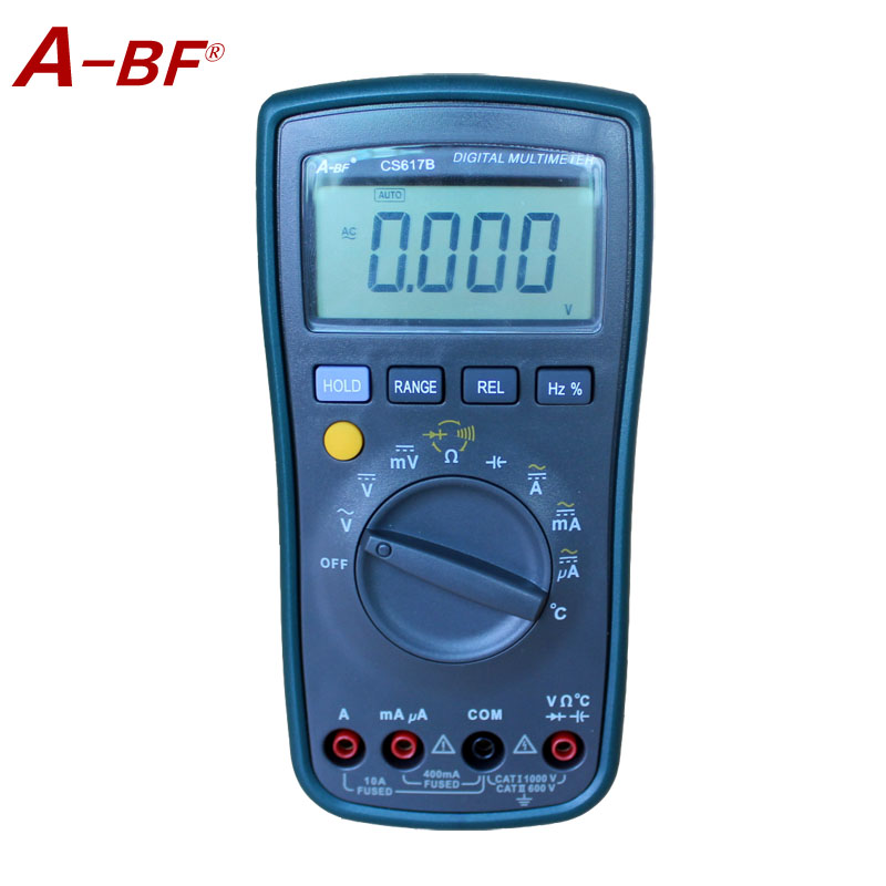 A-BF  Cs617b Digital multimeter With Prevent Burning Temperature  Frequency test high precision  multimeter rs 11ct cs 019wm b cs 019wm b