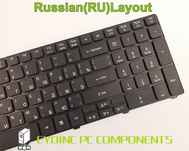 Clavier dordinateur portable pour Acer Aspire 5242 5236 5253 5250 5251 5252 5333 5336 5349 5410 5410 t RU Version Russe
