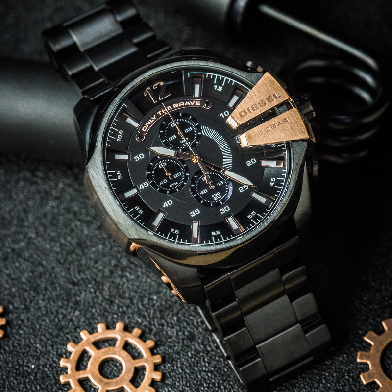 Diesel CHIEF officer series Three-eye timing independent day watch