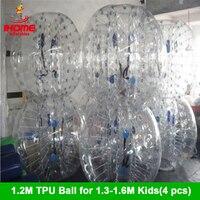 4 шт./лот 1,2 м ТПУ надувные тела Zorb бампер мяч Loopy BallBubble футбол пузырь Футбол Бурлящий шарик костюм Бола де futebol