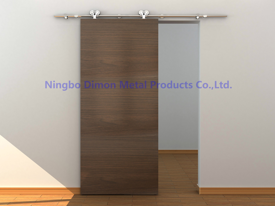 Купить с кэшбэком Dimon customized SUS 304 sliding door hardware wood sliding door hardware America style sliding door hardware DM-SDS 7102