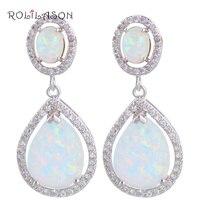 Best Christmas Gifts For Friends Wholesale Retail Blue Fire Opal 925 Silver Drop Earrings Fashionl Jewelry