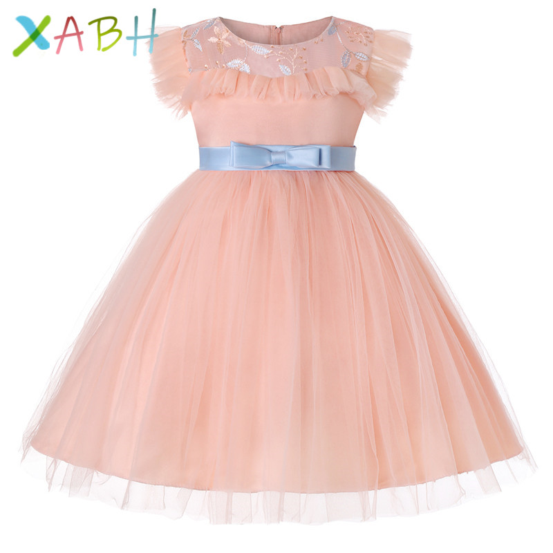 83b64fdab6 EAZII Fancy Kids Tulle Dress for Girls Embroidery Ball Gown Baby Flower  Girl Princess Dresses Wedding Party Costumes robe fille