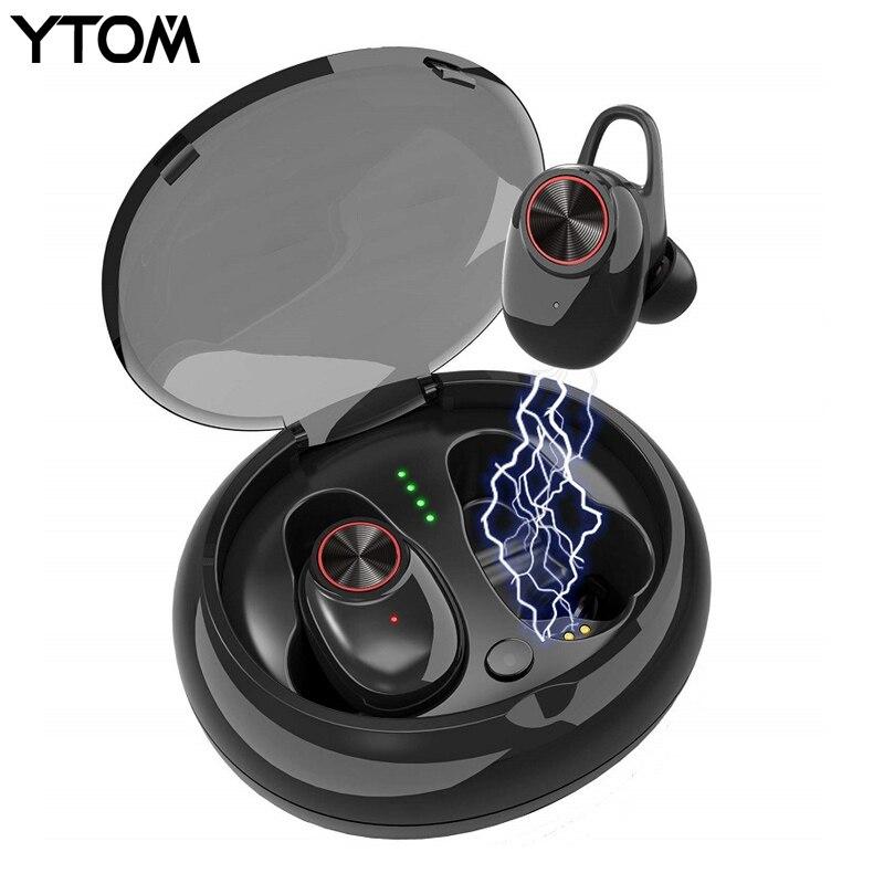 YTOM YT8 Bluetooth 5.0 Sans Fil Casque jouer 6 heures Ture TWS Bluetooth Casque Écouteur Port Sans Fil Meilleur écouteurs pour le sport