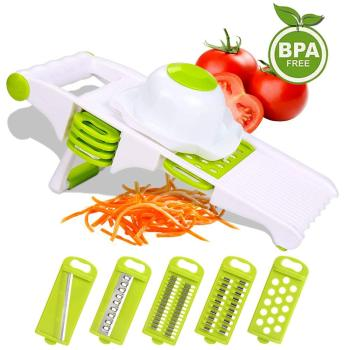 5 in 1 Spiralizer Vegetable Slicer Cutter Potato Tomato Onion Slicers Chopper Adjustable Food Cutters Kitchen Accessories Tools image