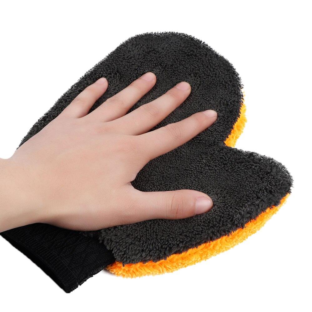 Перчатки для мытья автомобиля из микрофибры, инструменты для мытья автомобиля, автоуход, водопоглощающие, для стайлинга автомобиля, мягкие плюшевые аксессуары для автомобиля, пылеочиститель