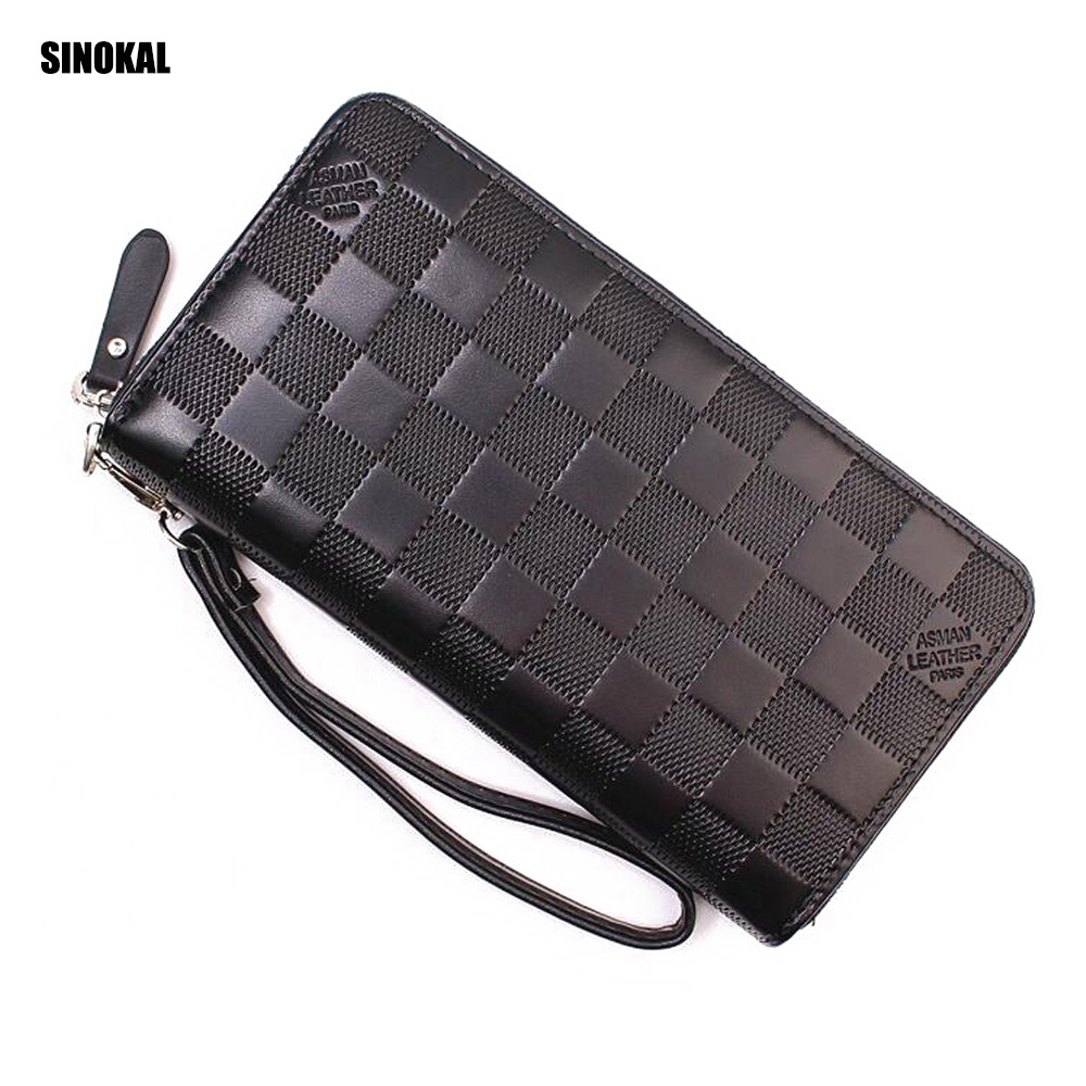 Wallet Buisness Men's Purse Credit Card Holder Long Fashion Men's Wallet with Phone Holder Large Capacity Men's Clutch Leather