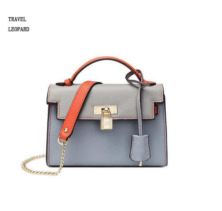 TRAVEL LEOPARD luxury sac a main women tote bags Shoulder handbags genuine leather beach bolsa feminina