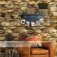 Waterproof 10m X 0.53m PVC Vintage Rustic Stone Brick Background Wallpaper Roll Living Room Bedroom Background 3d Wall Paper