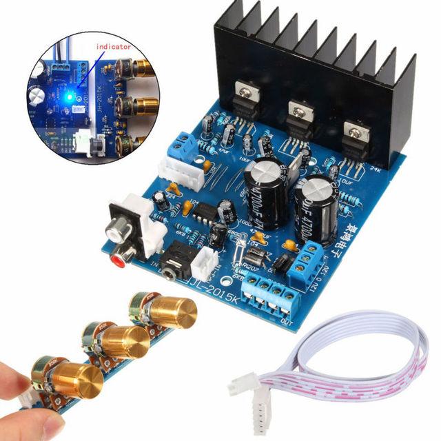 TDA2030A 2.1 Subwoofer Tablero Del Amplificador AC 12 V de $ Number Canales Módulo Electrónico 18 W + 18 W con cable de $ number Pines Envío gratis