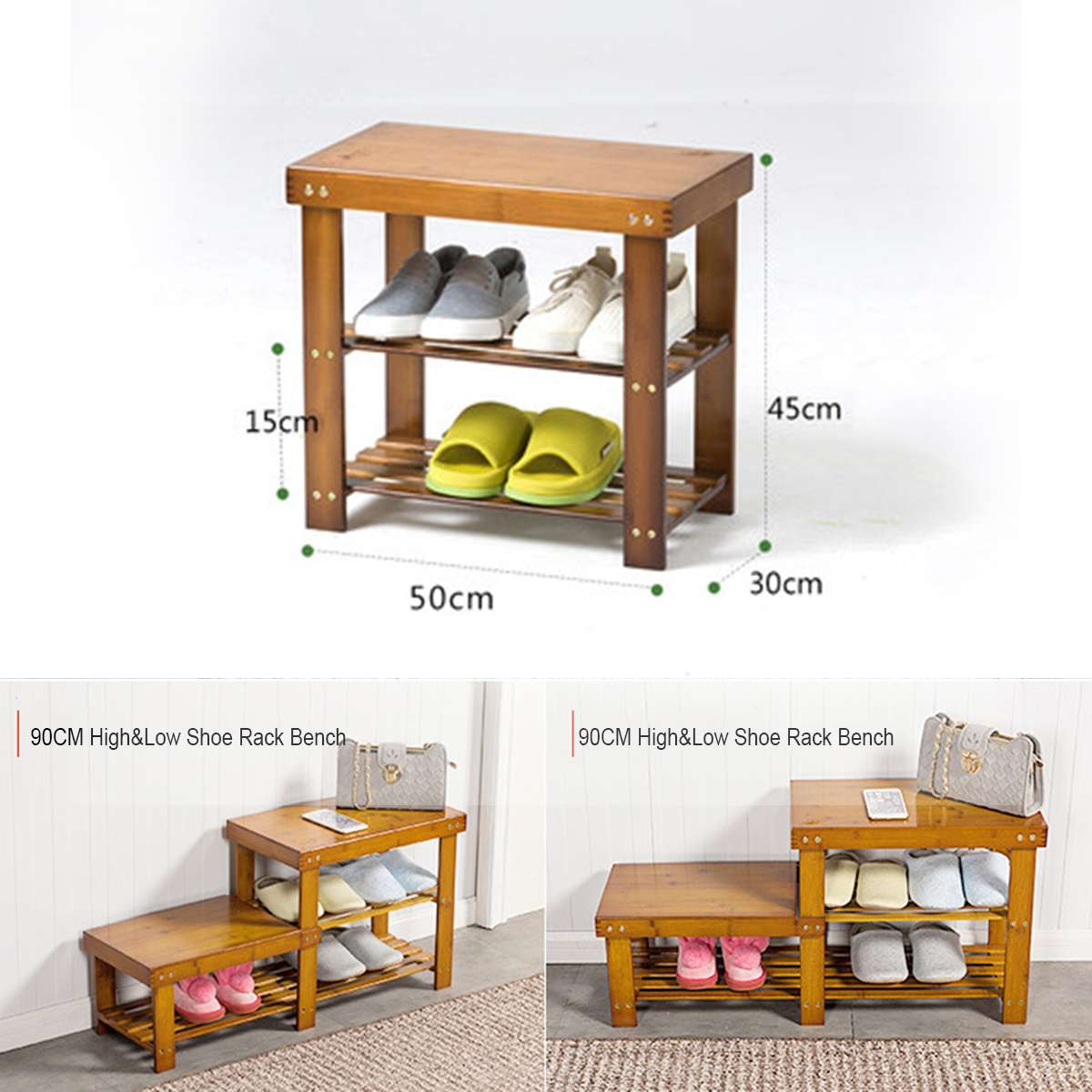 Shoe Stools Wooden Multi Purpose Shoe Rack Storage Benches Stools Porch Living Room Door Convenient Multi Layer Shoe Organizer