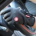 Водонепроницаемый Сенсорный Экран Спорт На Открытом Воздухе Windstopper Велоспорт Перчатки Черный Мотоцикл Велосипед Длинный Палец Плюс Размер Мужские Женские Красный