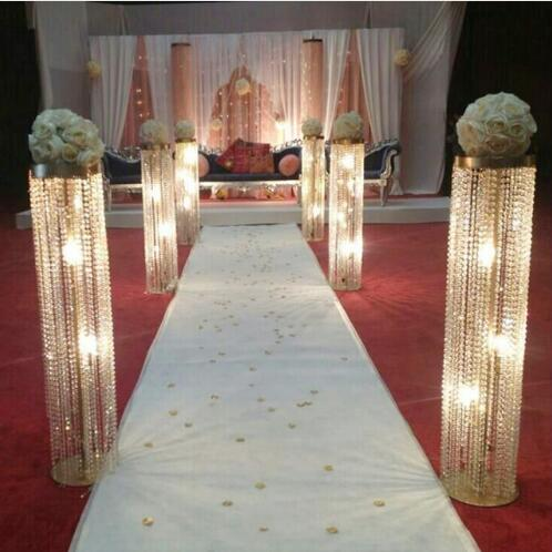 110 Cm Tall Wedding Aisle Decorations Crystal Pillars Wedding