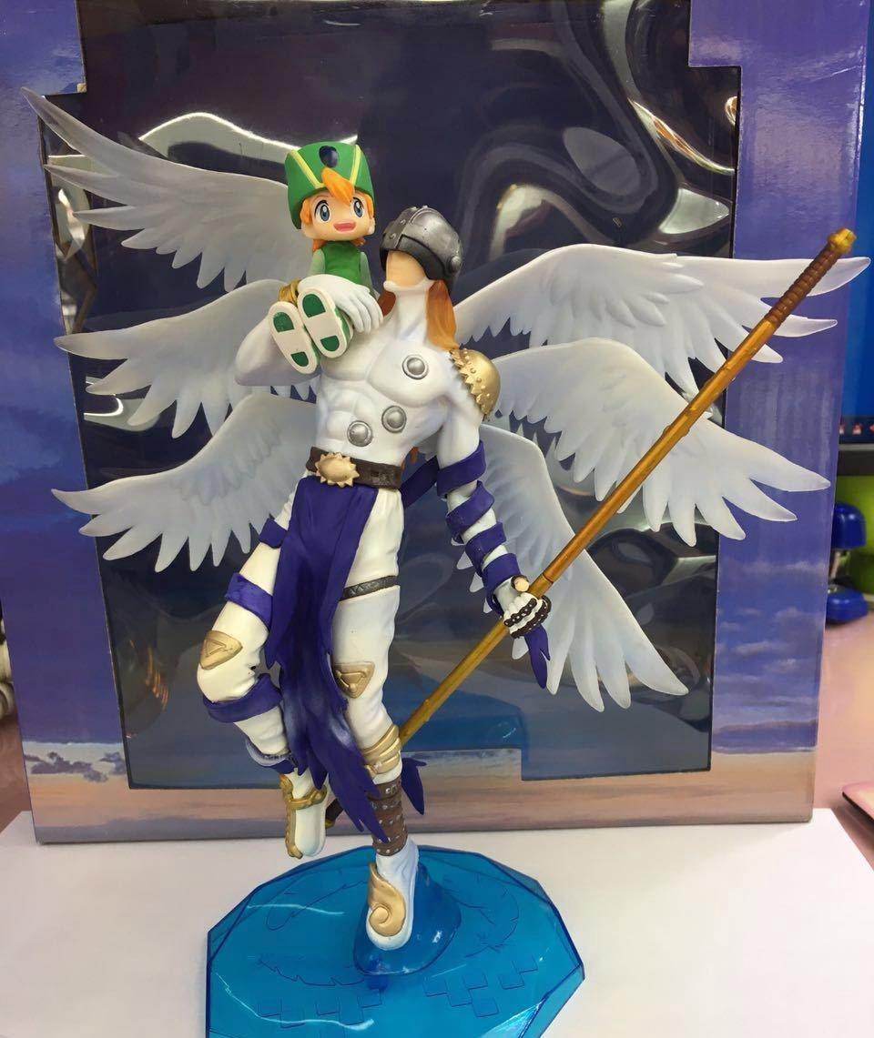 ФОТО Digimon Adventure Tri Figure Angemon Figure Digital Monster Angel Patamon Takaishi Takeru 22CM Action Figure Figura de accion