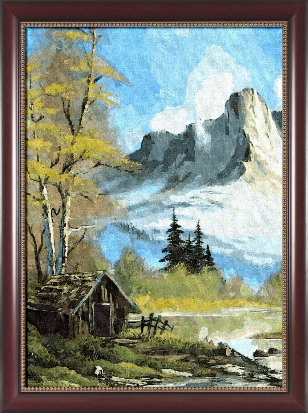 Framed Painting By Number Paint