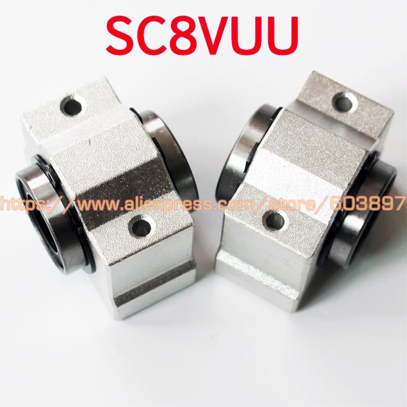 8 шт. 8 мм втулка подшипника SC8V SC8VUU SCV8UU Линейный шарикоподшипник для 8 мм линейный вал