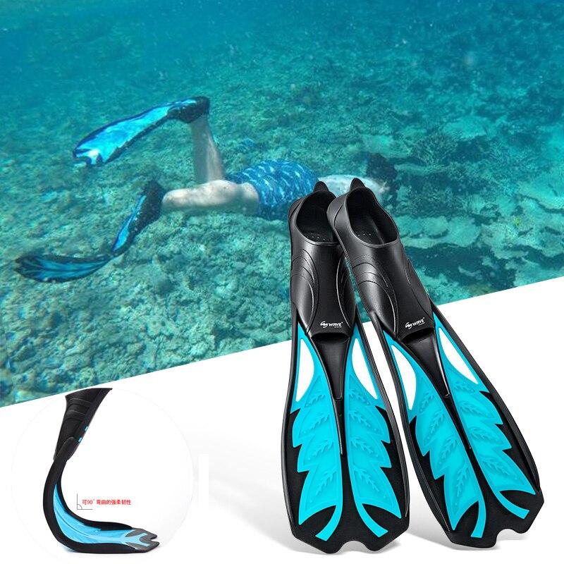 Palmes de natation flexibles de confort pour adultes palmes de natation longues submersibles palmes de plongée en apnée