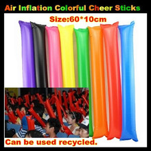 200pcs 60 10cm Big Air Inflation Cheering sticks Inflatable Cheers Bar for Concert Football Basketball Fans