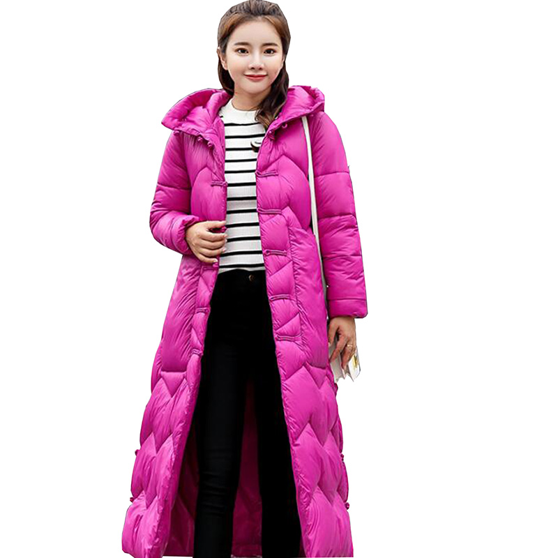 2018 New Fahion Winter Women Jacket Thick Clearance Down Cotton Female Long Korean Padded Coat High Quality Warm   Parka