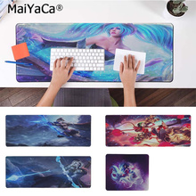 MaiYaCa League of Legends Ashe Sona Buvelle Silicone large/small Pad to Mouse Game Free Shipping Large Keyboards Mat