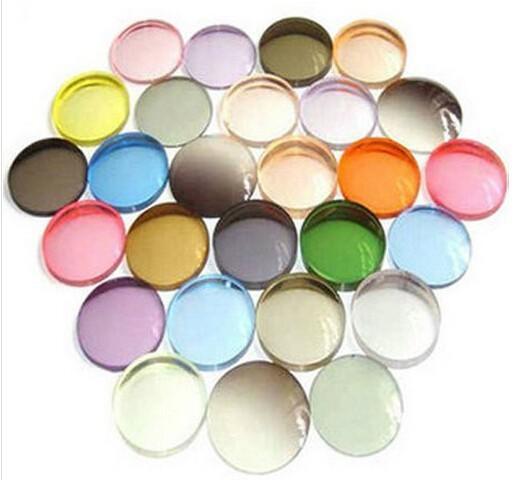 Index1.67 ultrafinos Cr-39 de Color teñido lentes de prescripción
