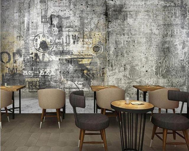 Beibehang Custom wallpapers home decoration mural industrial wind ...